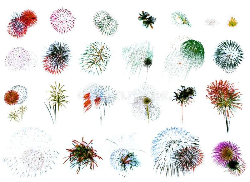 Feuerwerk-Extravaganz-Weiß vektor abbildung
