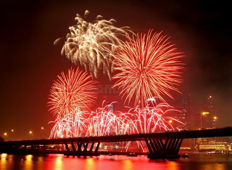 Feuerwerk-Festival stockbild