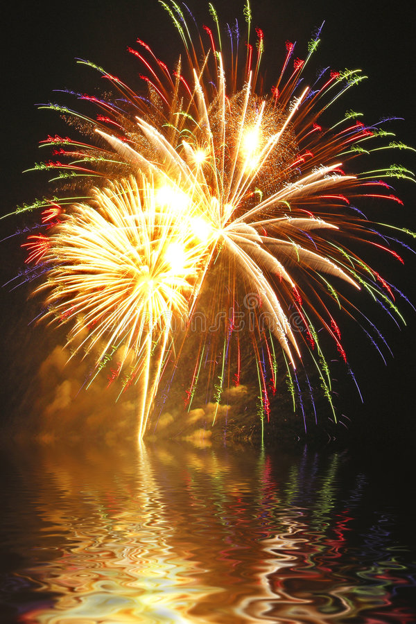 Feuerwerk-Finale! lizenzfreie stockfotografie