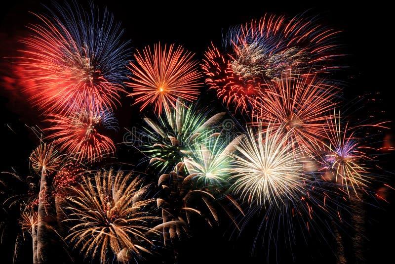 Feuerwerk-Finale lizenzfreies stockbild