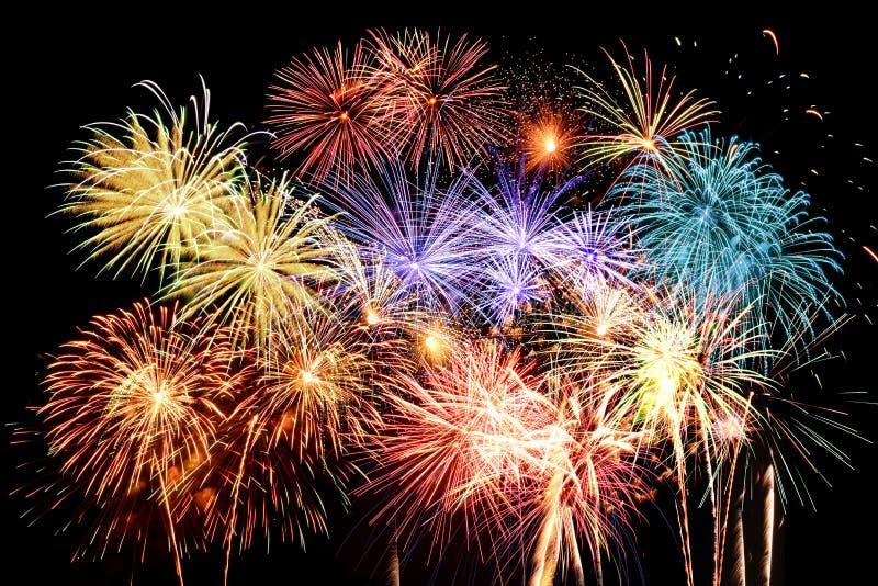 Feuerwerk-großartiges Finale lizenzfreie stockfotos
