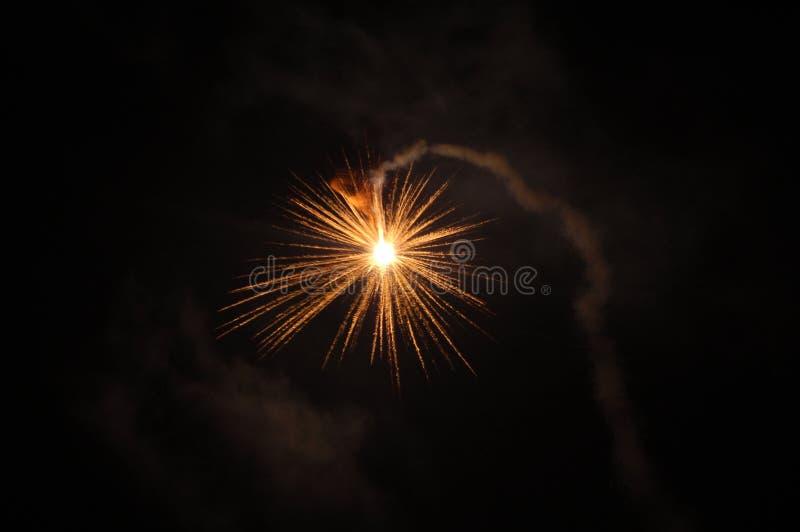Feuerwerk, guten Rutsch ins Neue Jahr, Slowakei stockbild