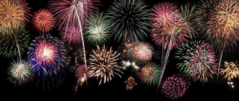 Feuerwerk-Hintergrund stockbild