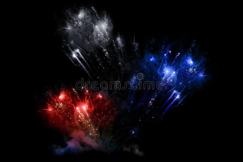 Feuerwerk im Himmel stockbilder