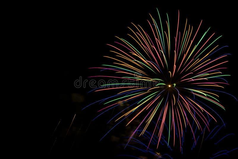 Feuerwerk in Milwaukee, WI stockfotografie