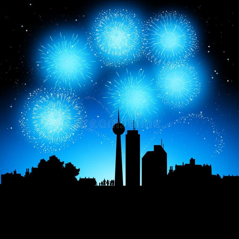 Feuerwerk-Party vektor abbildung