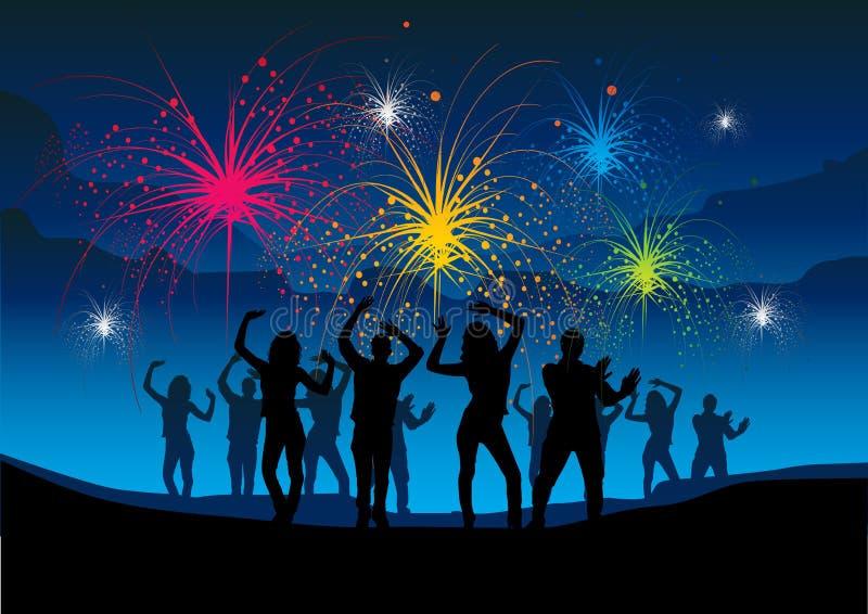 Feuerwerk-Party lizenzfreie abbildung