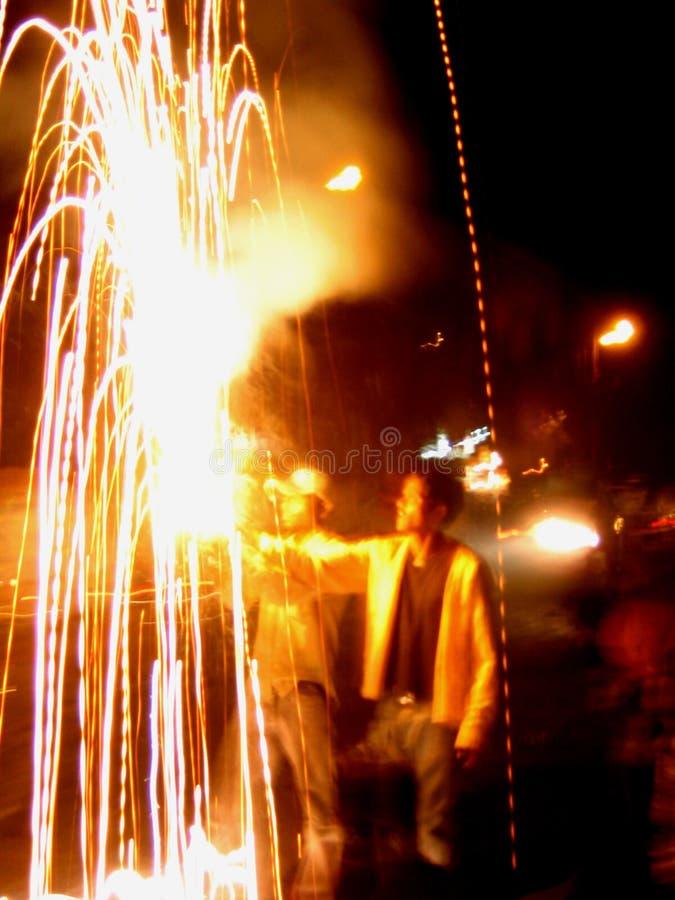 Feuerwerk-Techniken lizenzfreie stockfotos