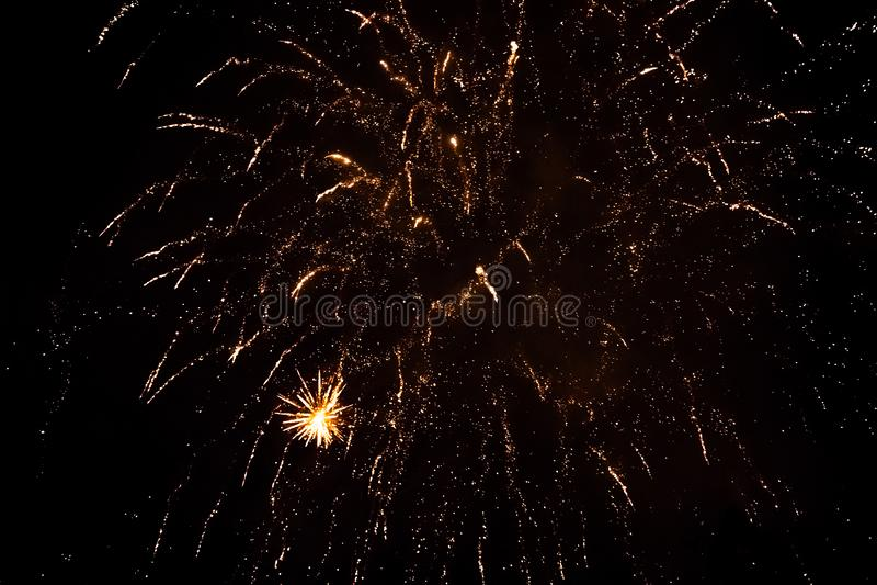 Feuerwerk in Tivoli, Kopenhagen lizenzfreies stockfoto