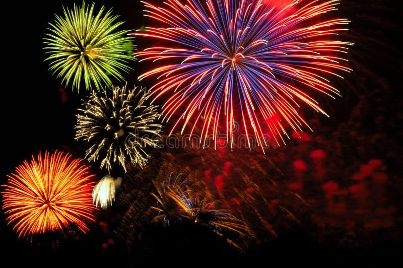 Feuerwerkblock stockfotografie