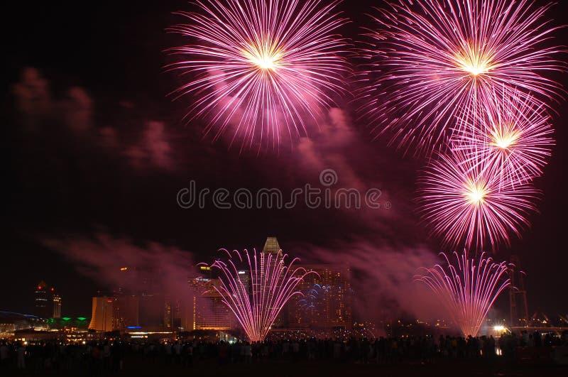 Feuerwerke 2 stockfoto