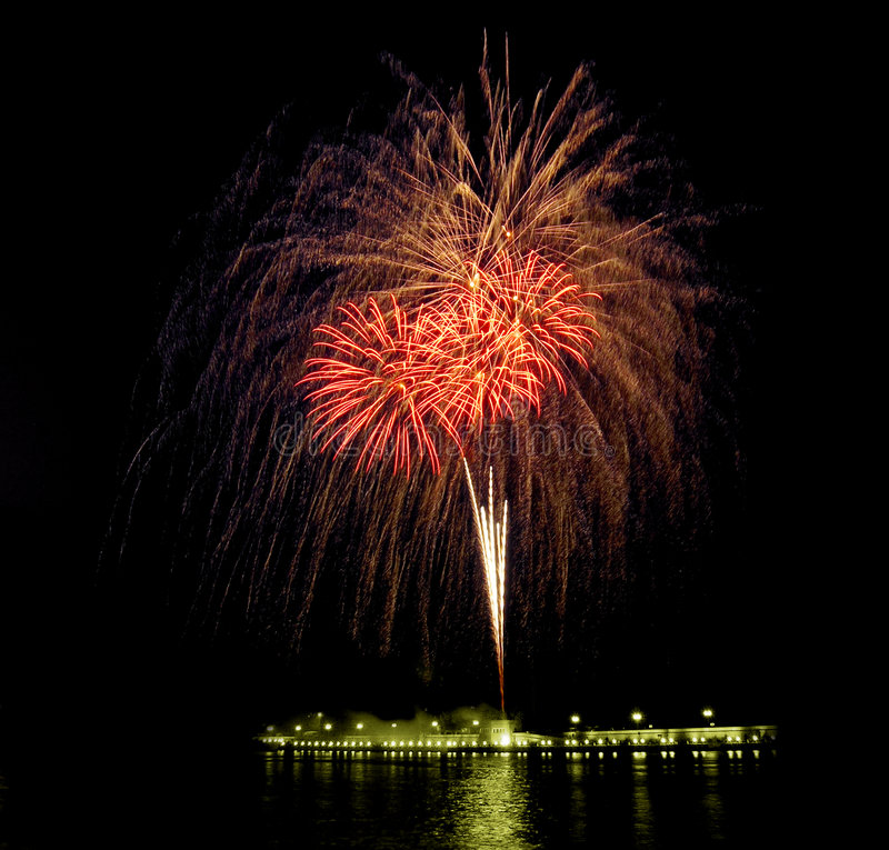 Feuerwerke [3] stockfotografie