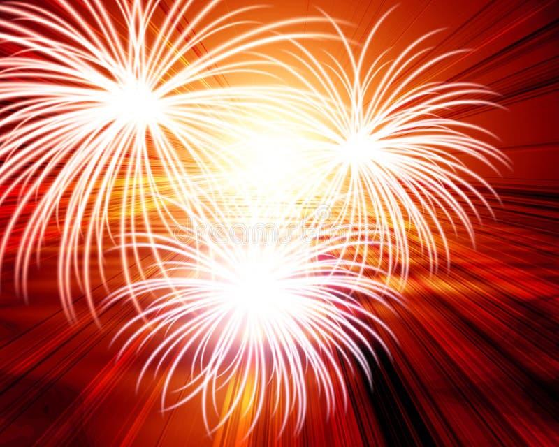 Feuerwerke vektor abbildung