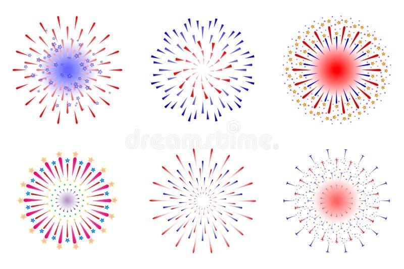 Feuerwerke stock abbildung
