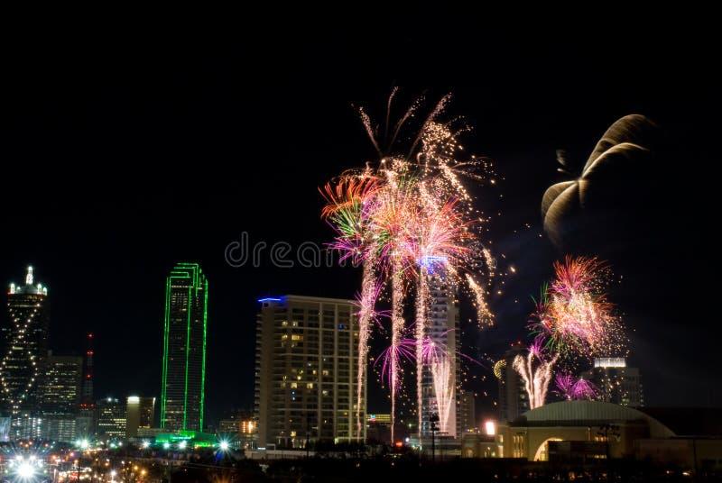 Feuerwerke Dallas-Texas lizenzfreie stockbilder