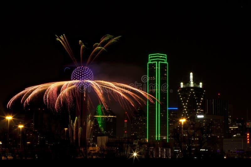 Feuerwerke - Dallas Texas stockbilder