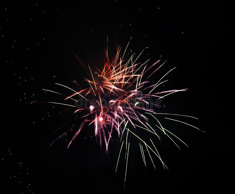 Feuerwerke an der nationalen Feier lizenzfreies stockfoto