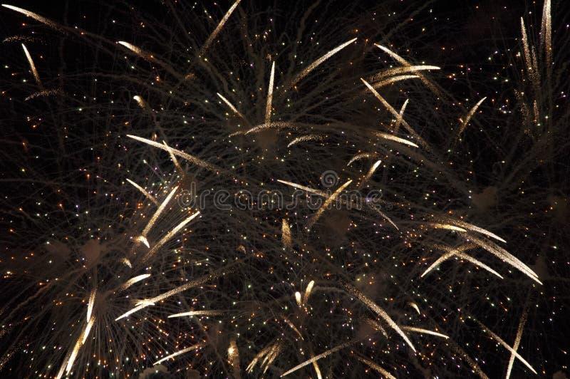 Feuerwerke in der Zeitspanne stockfotos
