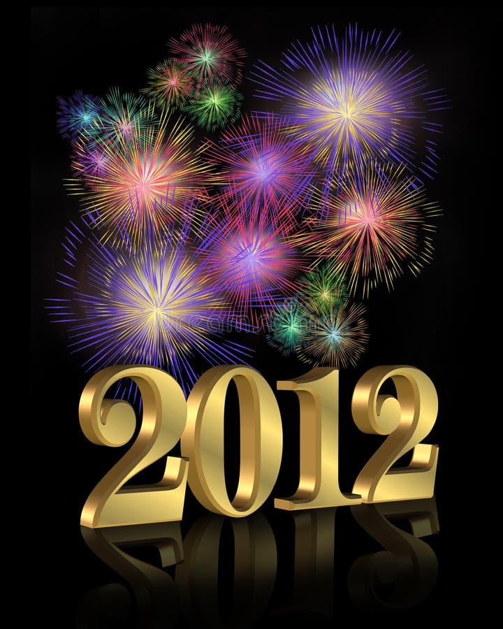 Feuerwerke des neuen Jahres 2012