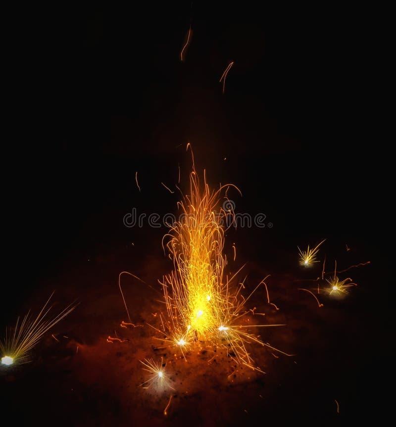 Feuerwerke in Diwali-Nacht stockfoto