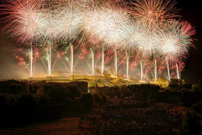 Download Feuerwerke drei stockbild. Bild von explosiv, farbe, französisch - 26365801