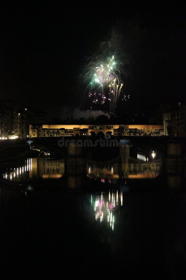 Feuerwerke in Florenz, lizenzfreies stockbild
