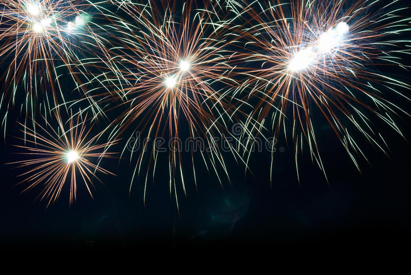 Feuerwerke, Gruß. lizenzfreies stockbild