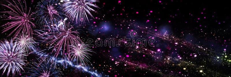 Feuerwerke, Hintergrund für neues Jahr stockfoto