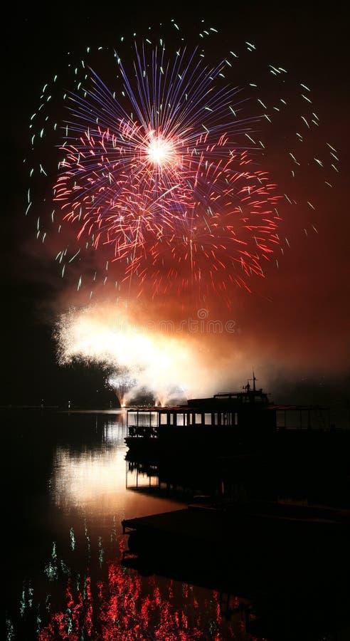 Feuerwerke Ignis Brunensis stockfotografie