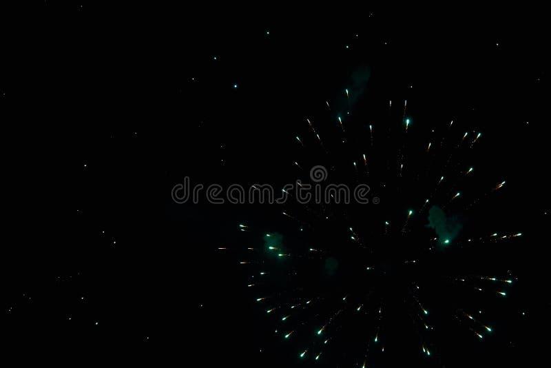 Feuerwerke im nächtlichen Himmel Beschaffenheitsgruß Abstraktes Foto von Florida stockbilder