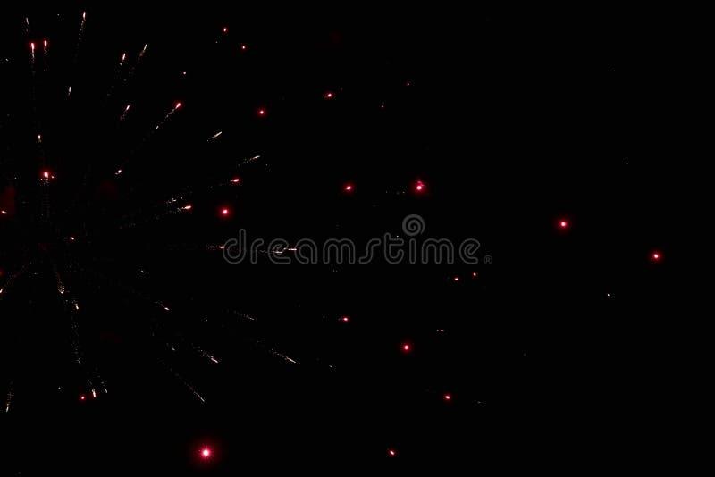 Feuerwerke im nächtlichen Himmel Beschaffenheitsgruß Abstraktes Foto von Florida stockfotografie