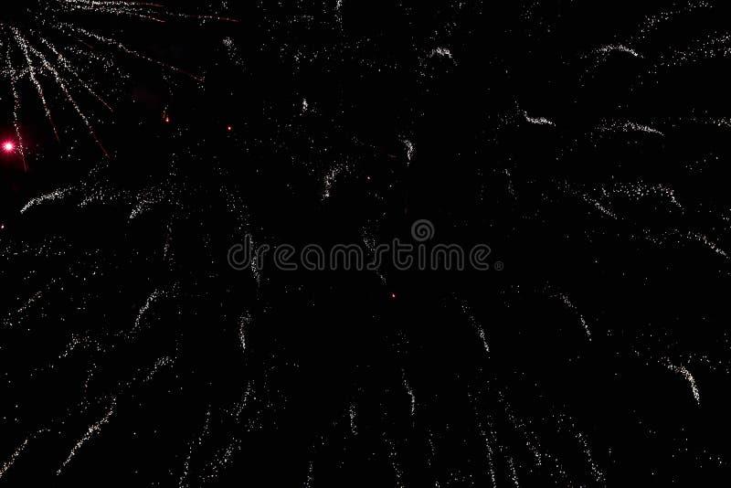 Feuerwerke im nächtlichen Himmel Beschaffenheitsgruß Abstraktes Foto von Florida stockbild