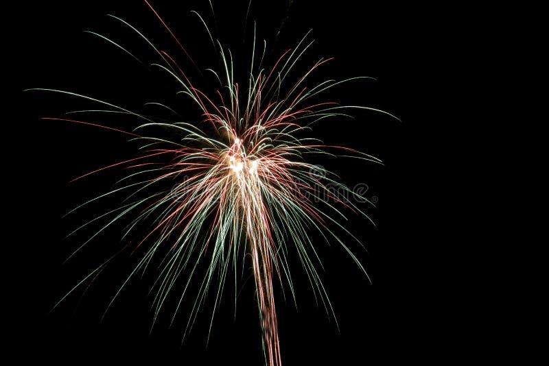 Feuerwerke im niederländischen Jahr 2018/2019 lizenzfreie stockfotografie
