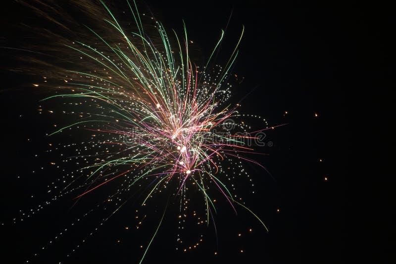 Feuerwerke im niederländischen Jahr 2018/2019 stockfotografie