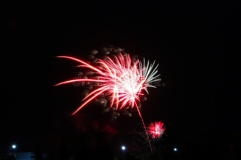 Feuerwerke an Kanada-Tag in Stittsville 18 stockbild