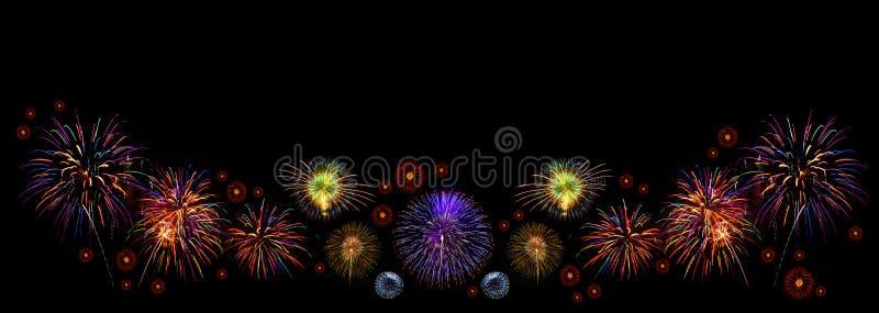 Feuerwerke mit Platz für Text lizenzfreie stockfotos