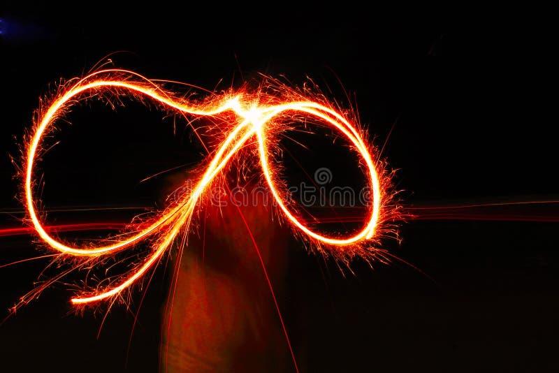 Feuerwerke nachts am Festival stockbild