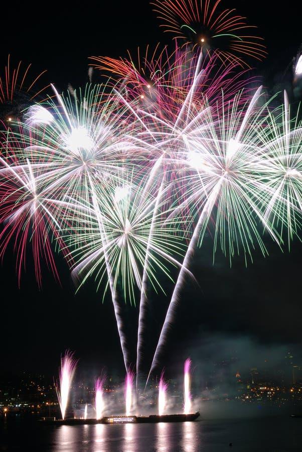 Feuerwerke in Seattle stockfotos