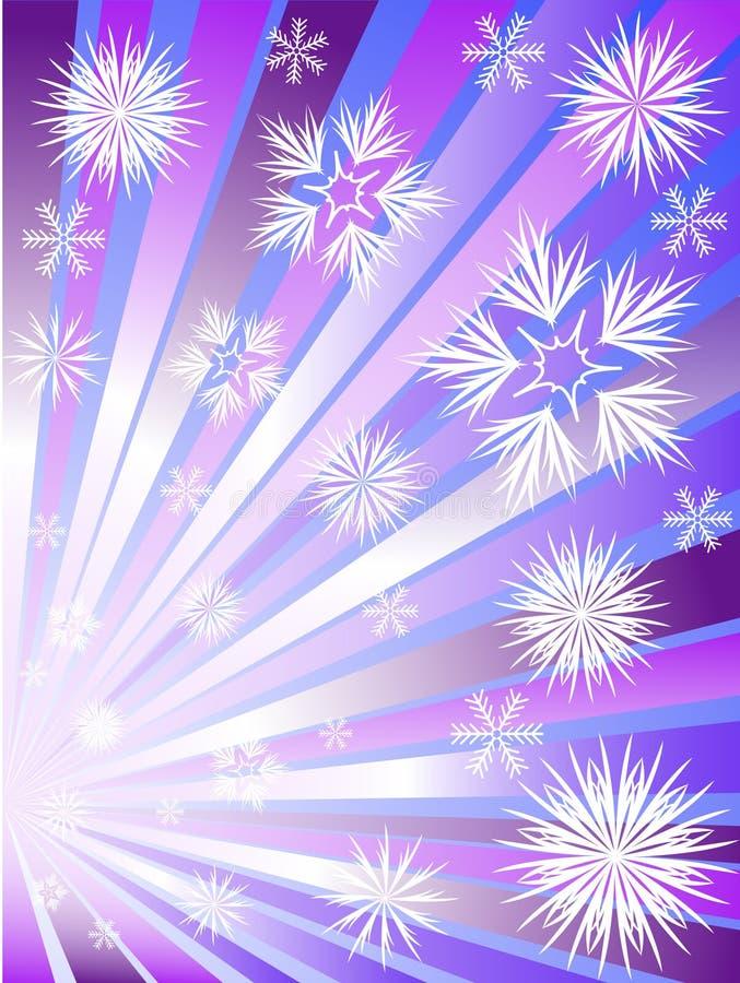 Feuerwerke von den Schneeflocken stock abbildung