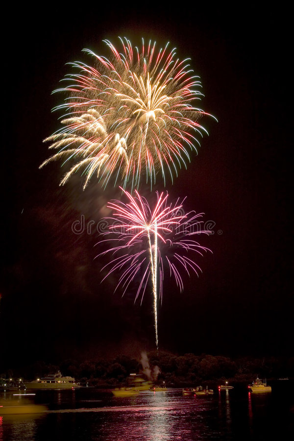 Feuerwerke zwei lizenzfreies stockfoto