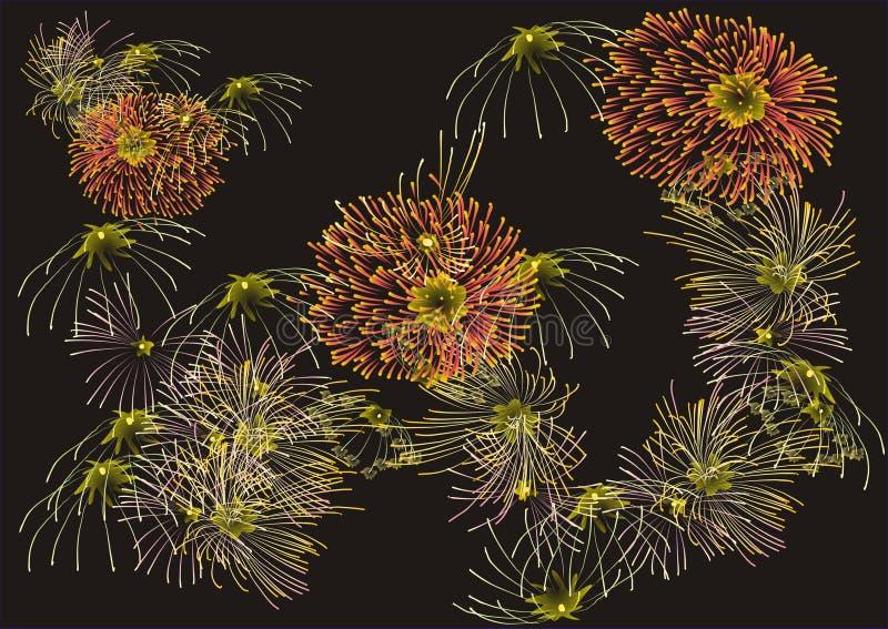 Feuerwerke zwei stockfotografie