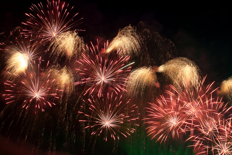 Feuerwerkhimmel stockfoto