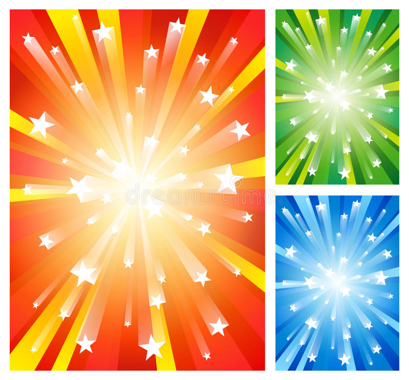 Feuerwerkhintergründe vektor abbildung