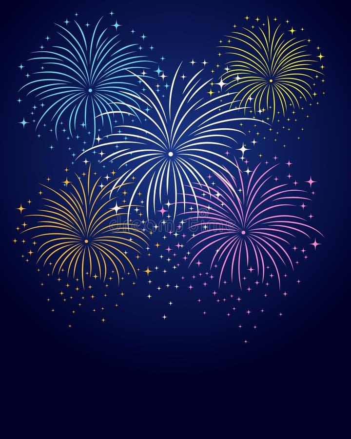 Feuerwerks-Hintergrund stock abbildung