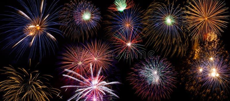 Feuerwerks-Hintergrund lizenzfreie stockfotografie