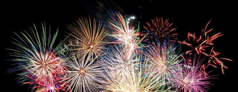 Feuerwerksfahne lizenzfreie stockfotografie