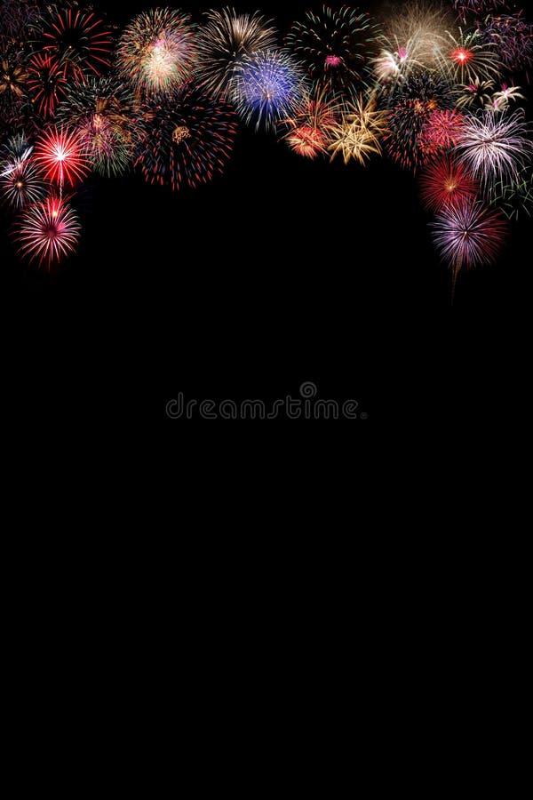 Feuerwerksfeier nachts lizenzfreies stockfoto