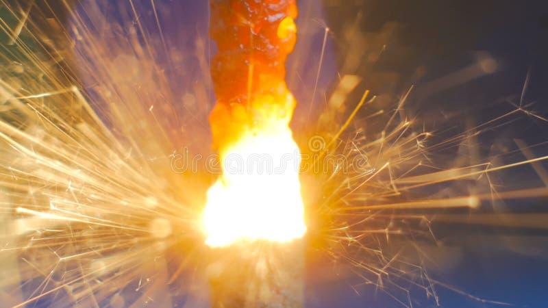Feuerwerkswunderkerze Burning lizenzfreie stockfotografie