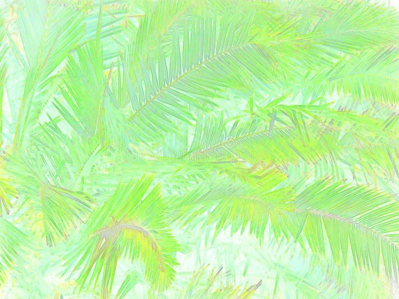 Feuillage tropical abstrait illustration de vecteur