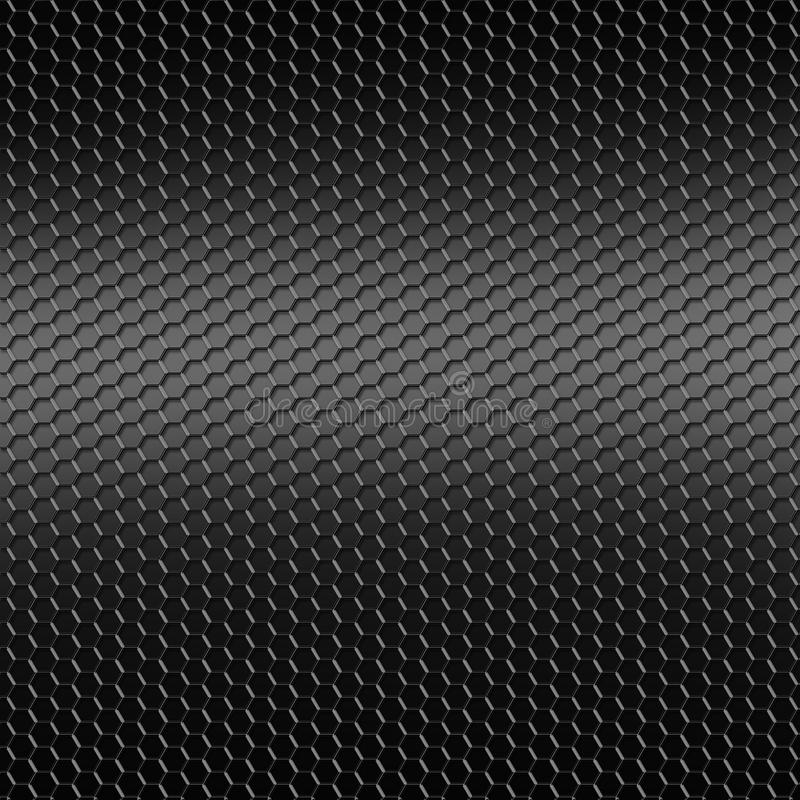 Feuillard perforé de fond noir illustration stock